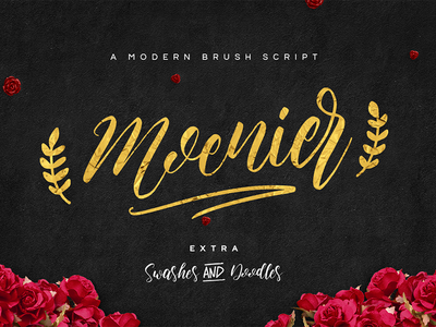 Moenier Font cursive ink branding typography calligraphy swashes script stylish handwritten signature lettering brush