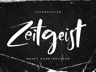 Zeitgeist Font webfont typography messy casual wild textured lettering handwritten cursive calligraphy brush