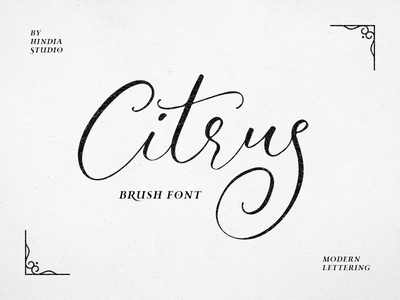 Introducing Citrus Script natural handmade stylish signature elegant brush lettering decorative invitation wedding calligraphy typography