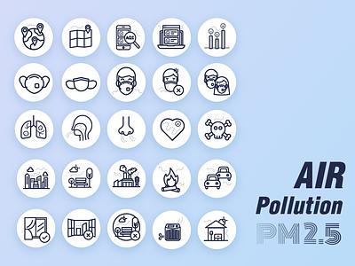 Air Pollution pm2.5 air pollution icon
