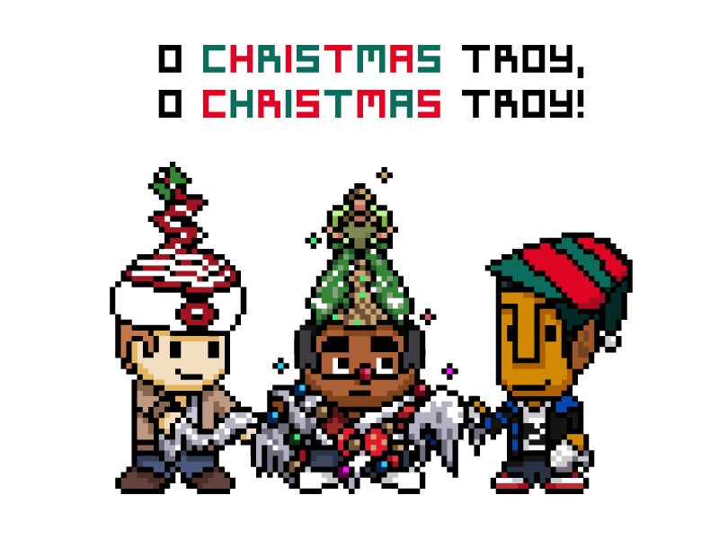 O Christmas Troy troy and abed six season and a movie illustration pixel art pixel community christmas tree christmas christmas troy