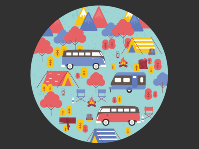 Autumn Camp: Spare Tire Cover Design for VW Bus
