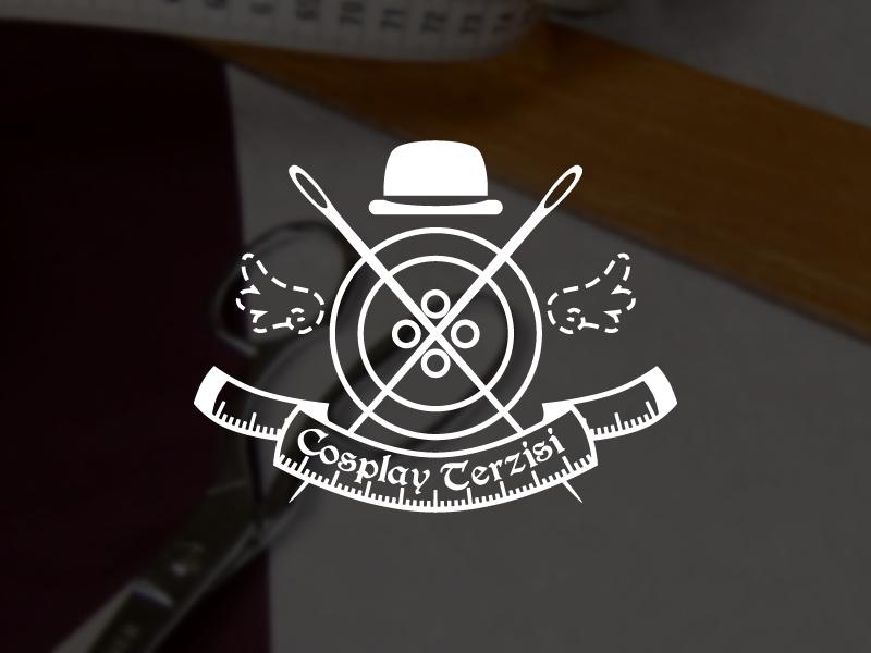 Cosplay Terzisi - Logo Design brand identity tailor costume cosplay needle thread wings button logo logo design branding
