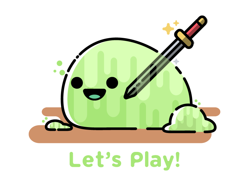 Lets Play DnD: Slime minimal cute slime dungeons and dragons dnd d20 dice illustration geek nerd game vector art