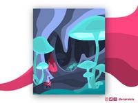 Underdark Adventure - A DnD Themed Poster Illustration