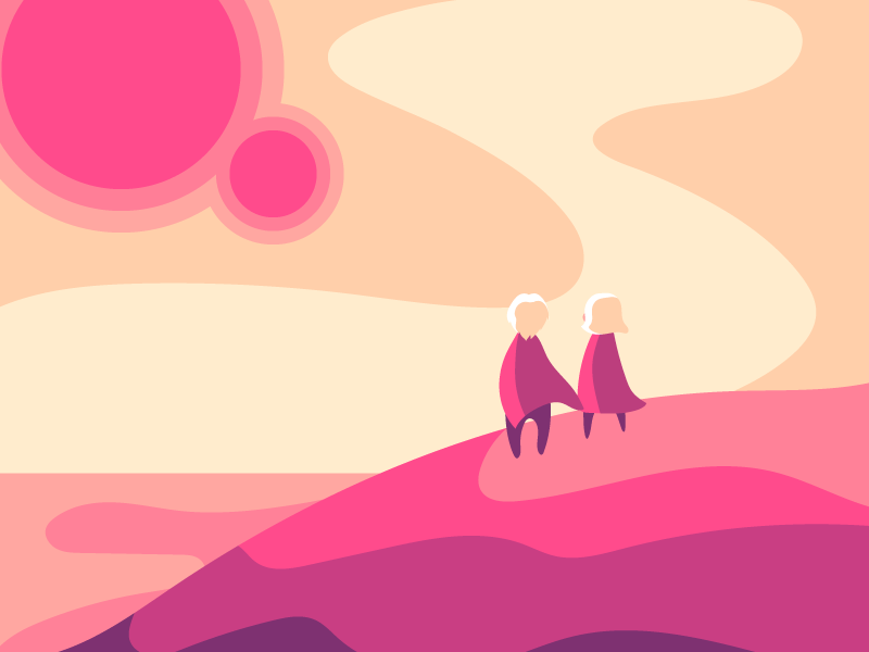 2X dribbble Invites for a dribbble Adventure dribbble invite fantasy dnd alien planet adventure illustration poster design scenery character vector art draft pink