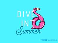 Dive Into Summer - Wallpaper