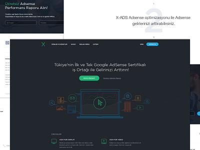 X-Ads -Homepage website web homepage icon flat ui ux home ads adsense