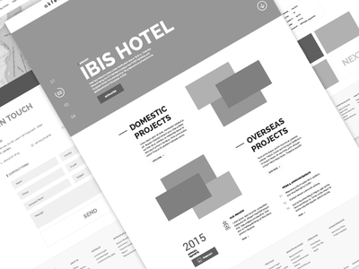 Reit - Wirefame wireframe website home page web clean flat ui ux reit hotel