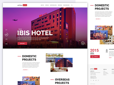 Akfen Reit- Home website home page web clean flat ui ux reit hotel