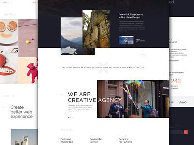 Uniq X theme homepage clean ux website ui flat web