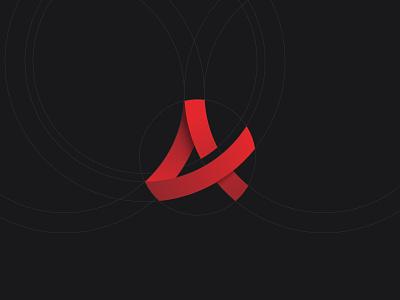 Aesthetix Physique a design red geometry mark branding logo