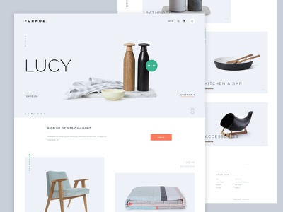 Furnde. interior home furniture design web home page website