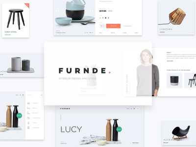 Furnde. search design furniture ui cart web product quick view product detail e-commerce