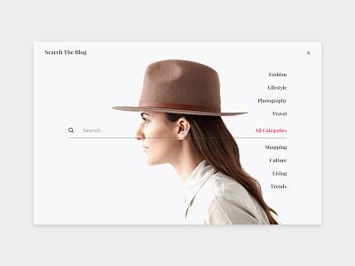 Blog Search theme website web design ui blog search