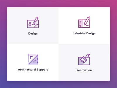 Architectural icon industrial design renovation architect architectural web design icon
