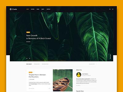 Creda personal home page minimal wordpress ui web clean blog website
