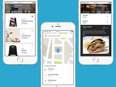 Mockup Centro Direzionapoli App fashion shopping food shop material maps ux ui napoli centro direzionale mobile app