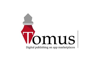Tomus Logo novels novel copywriter writer brand logotype logo books book publishing digital app