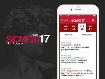 SICMF Conference App facial maxillo android ios conference congress medicine surgery mobile app