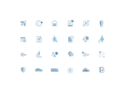 Airline UI icons airport icons set ux fly app icon flat small airplane icons ui airlines