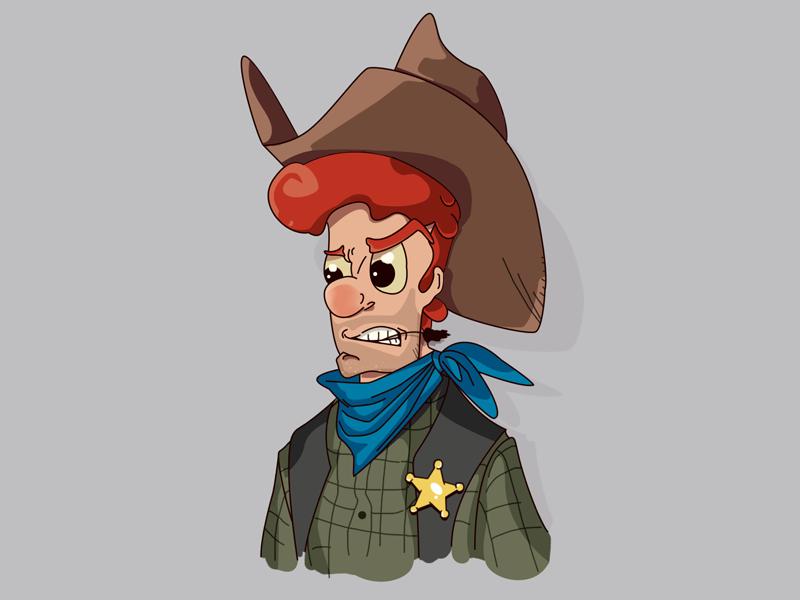 Cowboy retro man illustration character comic cowboy
