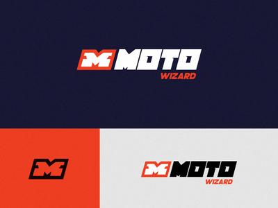 Moto Wizard Logo branding logo speed wheel wizard cat moto