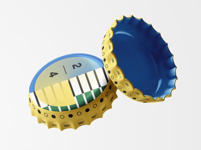 Beer Cap packaging design design bottle cap cap beer