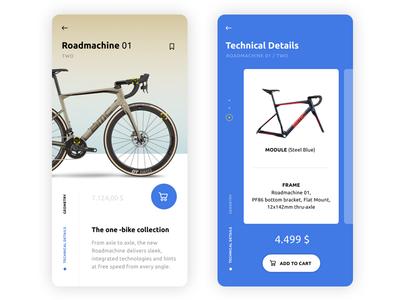 Bike app mobile app ux ux ui design iphone android app bicycles ui app bike app