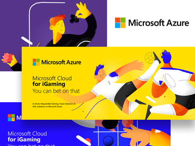 Microsoft Azure   Betting illustrations digital betting bet soccer design vector illustration cloud microsoft