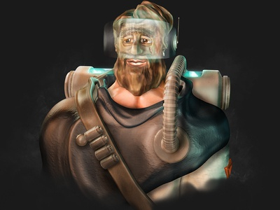 Cosmonaut sculpt gamedesign characterdesign man c4d design 3d