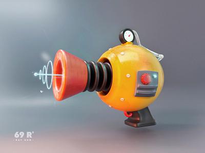 Retro Ray Gun illustration icons design 3d art ray gamedesign space gun sci-fi retro