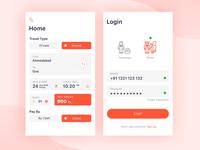 Login and home screen design