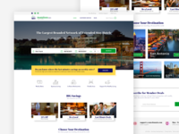 Hotel booking web page layout