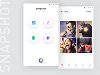 Snapshot photo editing app