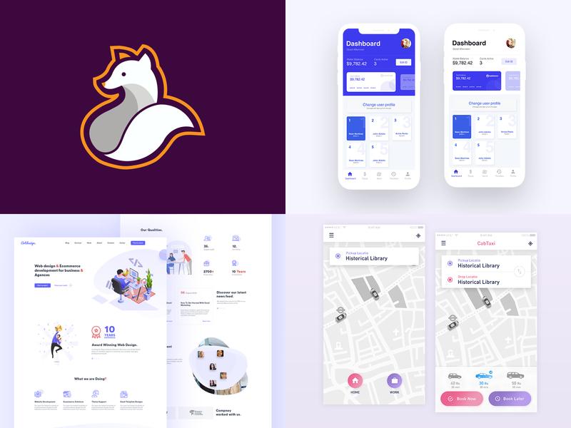 2018 flat character layout website app