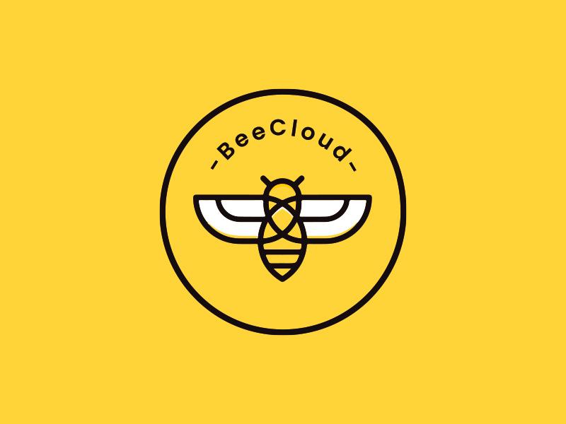 BeeCloud logo branding icon flat logo