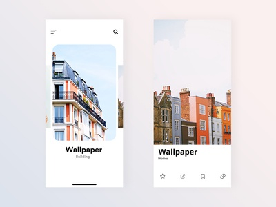 Wallpaper app design