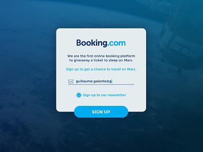 DailyUI #01 - Sign Up daily ui blue header image ui webdesign sign up booking.com booking