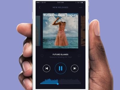 DailyUI #09 - Music Player blue design album spotify player berlin ui app ios controls music