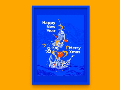 Abstract New Year Poster