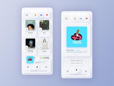 Neumorphic Music Player App design inspiration neumorphism neumorphic music player app music app user interface ui inspiration application minimalistic ui card app