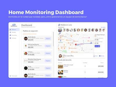 Home Monitoring Dashboard / Dalilyui challenge #21
