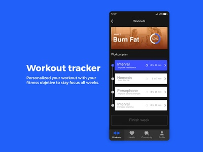 Workout Tracker / DailyUI challenge #41