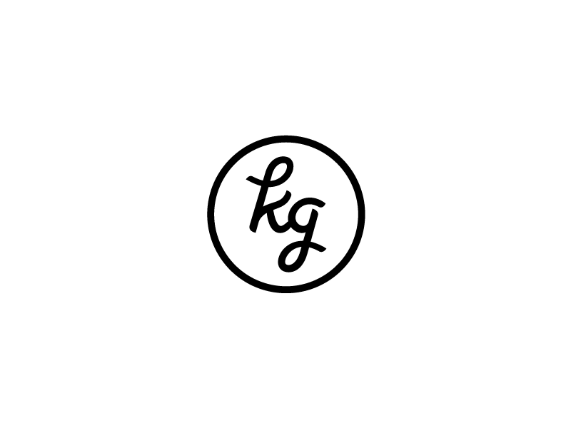 KG Monogram logo mark identity custom type type custom monogram unused k g kg