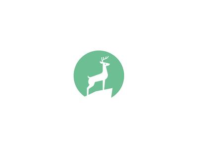 Buck Logo logo mark identity animal deer buck antler antlers rock