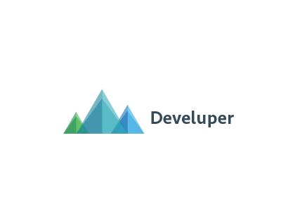 Develuper logo [Work in Progress] mountains venn diagram green blue transparant seravek