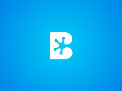 'BlueFrog' Unused Logo mark logo identity b foot paw amphibian frog