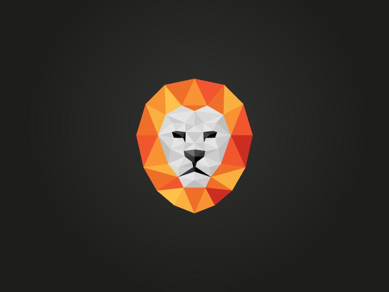 Polyon (Revised) logo mark identity brand lion polygon polyon