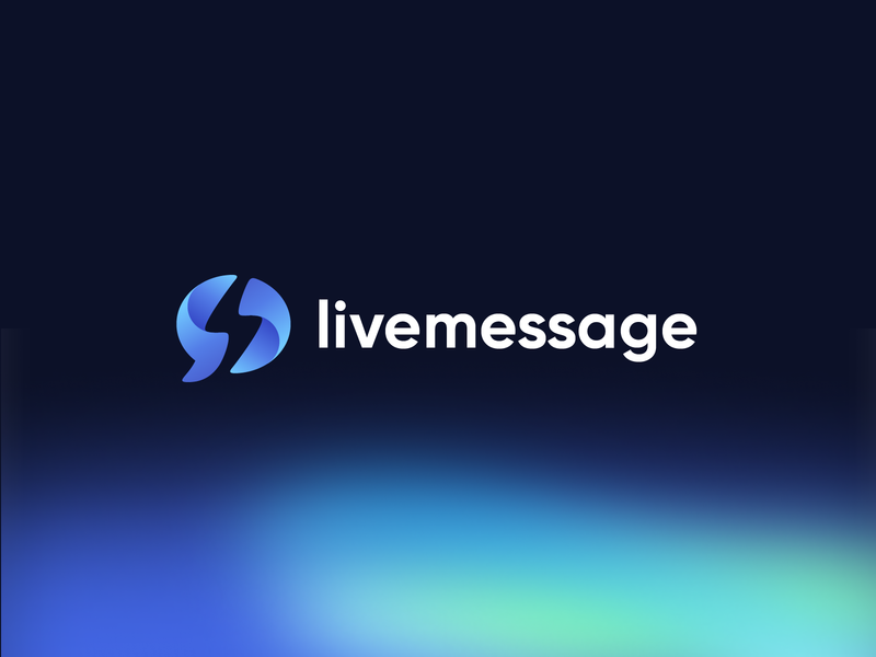 LiveMessage Logo speak interact connect bolt spark talk bubble chat design branding mark